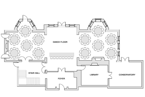 Floor plans graydon hall manor toronto wedding and for Wedding floor plan