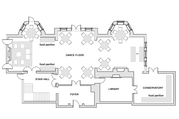Marriage hall floor plan meze blog for Banquet hall floor plan