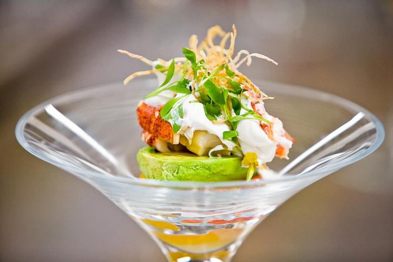 salad seafood martini